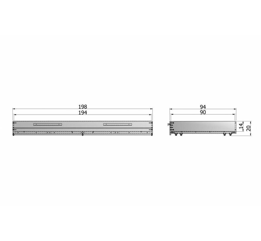 Matras / Bedlade Steelgrey Geborsteld [fsc]