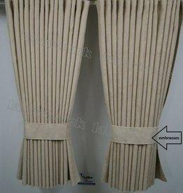 Zijgordijnen Alacantara 90 cm