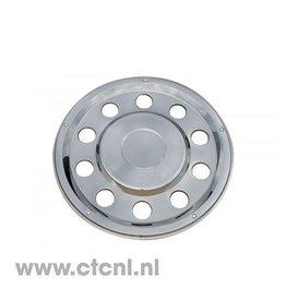 Stainless steel lock ring rear wheel hub cap closed 22.5