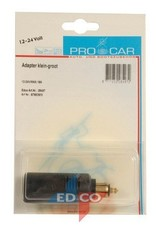 Procar adapter Small Large 12-24V 16A