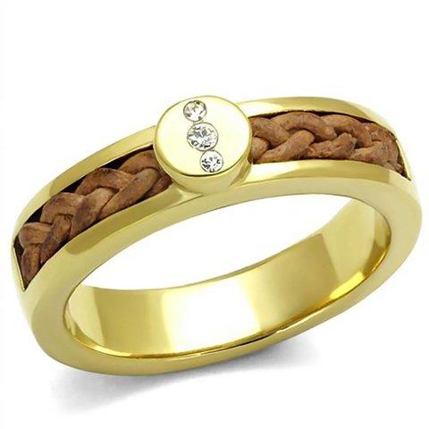 "Ring ""Diamonds & Leather"""