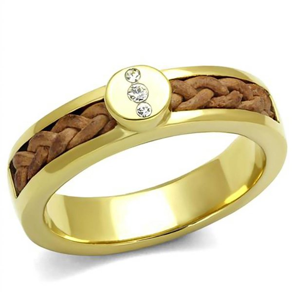 "Selection NoeBijou Ring ""Diamonds & Leather"""