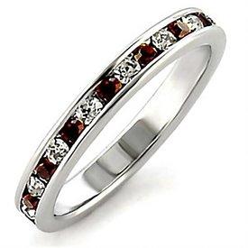 """Zilveren Ring """"Garnet"""""""