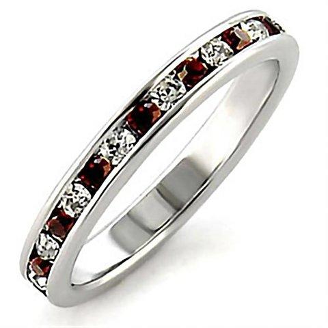 """Sterling Silver Ring """"Garnet"""""""