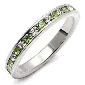 """Zilveren Ring """"Peridot"""""""