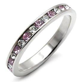 """Zilveren Ring """"Light Amethyst"""""""