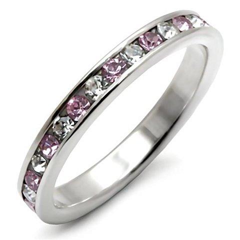 """Silver Ring """"Light Amethyst"""""""