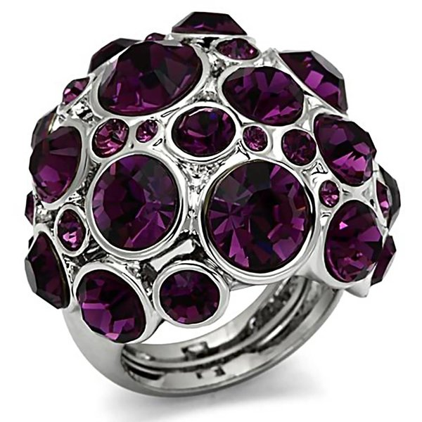 "Ring ""Extravaganza"" with amethyst crystals"