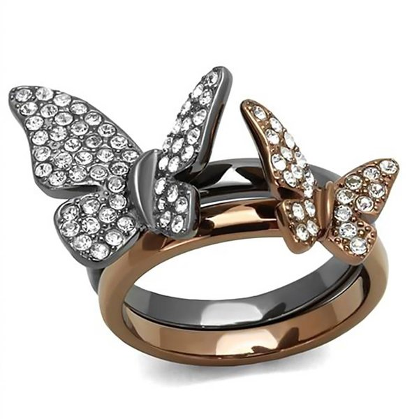 """Stackable Rings """"Butterfly"""""""