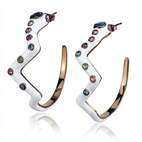 "Earrings ""White Serpent"""