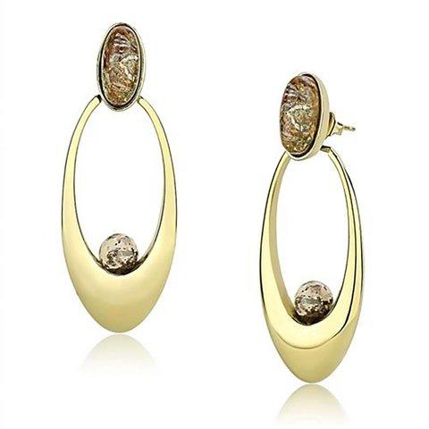 """Drop Earrings """"Oval Beauty"""""""