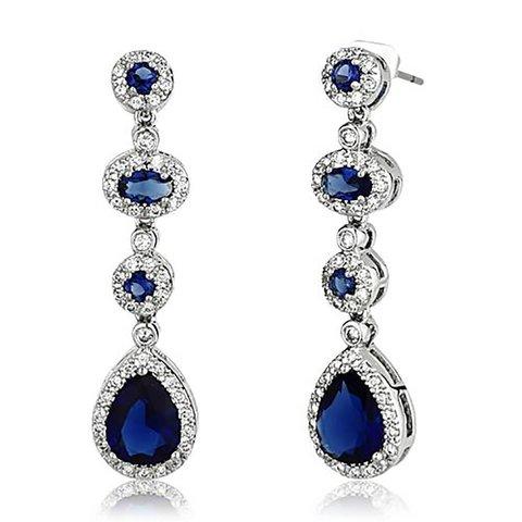 """""""Regal Beauty"""" Sapphire-blue Earrings"""