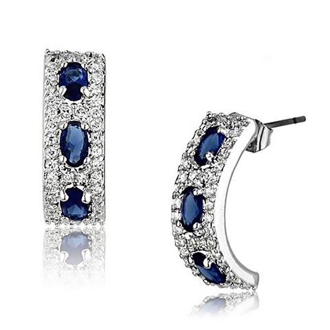 """""""Royal Passion"""" Sapphire-blue Earrings"""