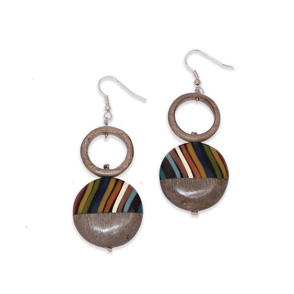 """Ernesto de Barcelona """"Gaia's Treasure"""" Exotic Wood Earrings"""