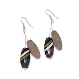 "Ernesto de Barcelona ""Nemophilist"" Wood Earrings"