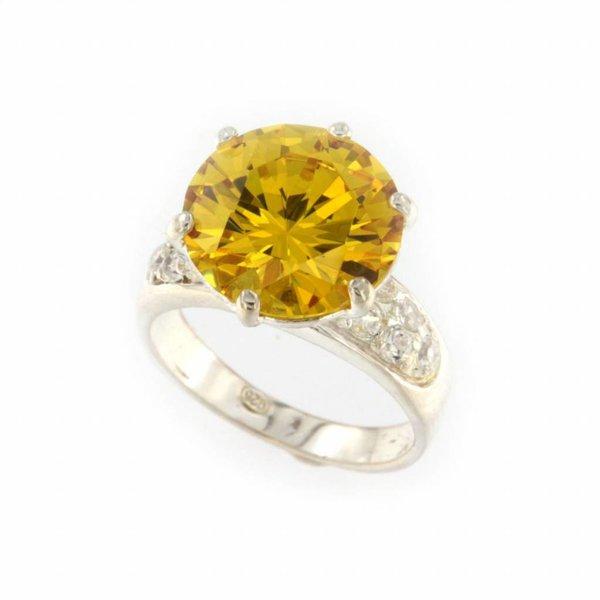 "Selection NoeBijou Massiv Sterling Silber Cubic Zirkonia Ring ""Sun"""