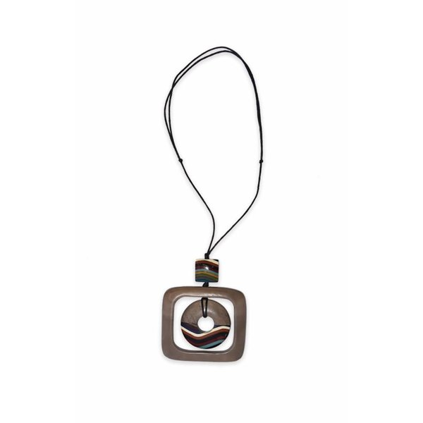 "Ernesto de Barcelona ""Island Princess"" Minimalist Wood Necklace"