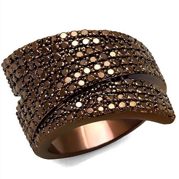 Selection NoeBijou Anillo diseño de cinta con circonias