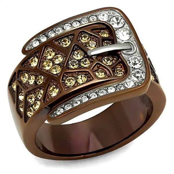 Selection NoeBijou Ring with Belt Buckle desing and with  zirconias
