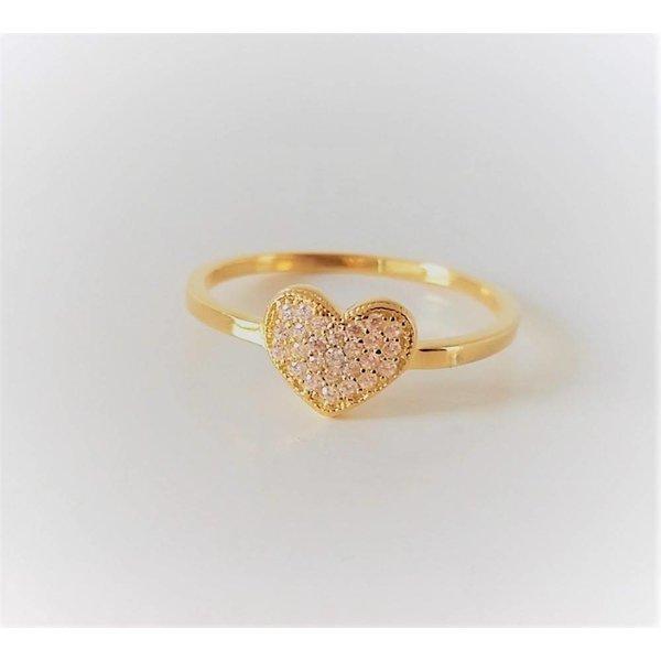 Selection NoeBijou Ring in hart  design met zirkonias