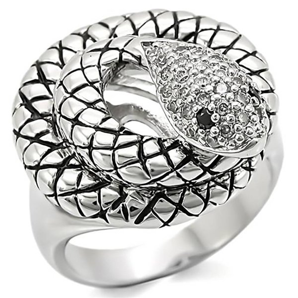 Selection NoeBijou Snake Ring  met zirconia
