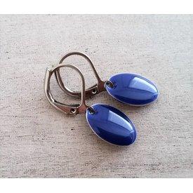Selection NoeBijou Oorbellen  geëmailleerd blauw