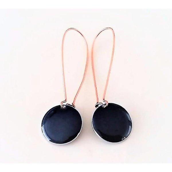 Selection NoeBijou Earrings enamel with blue circle