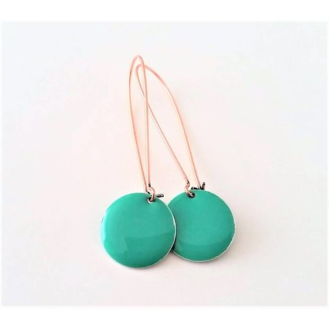 Earrings enamel turquoise