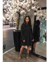 Bow dress black
