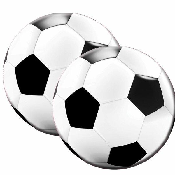 20 ronde servetten voetbal