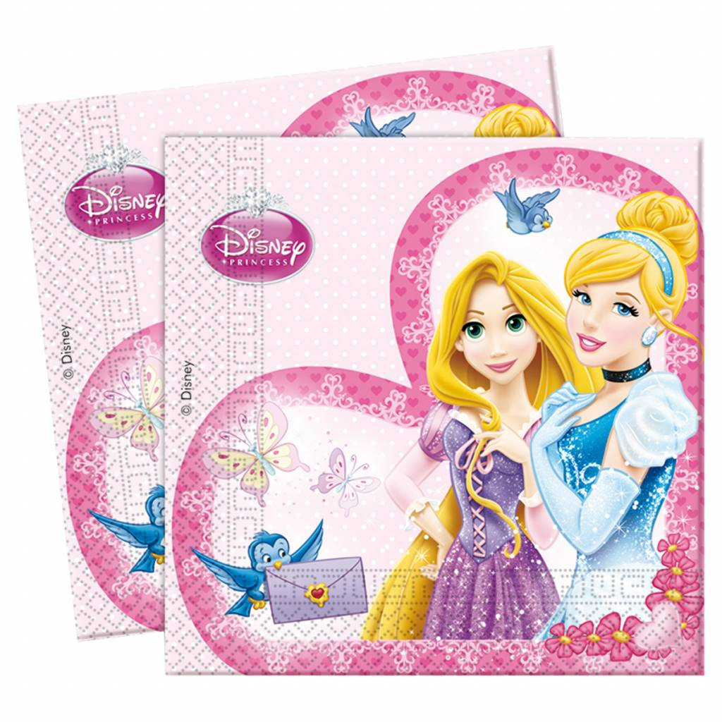 servetten prinsessen 20 stuks