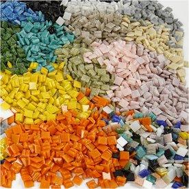 Glasmozaiek steentjes 1x1 cm.  250 gram