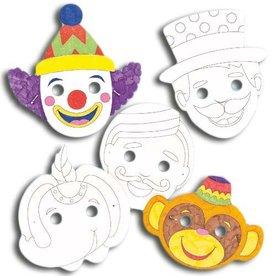 circusmasker om in te kleuren
