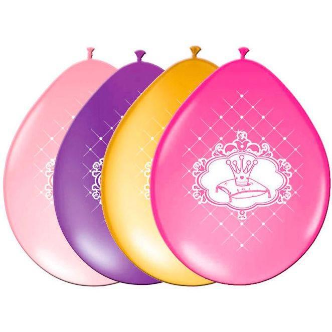 6 ballonnen met afbeelding van prinsessen