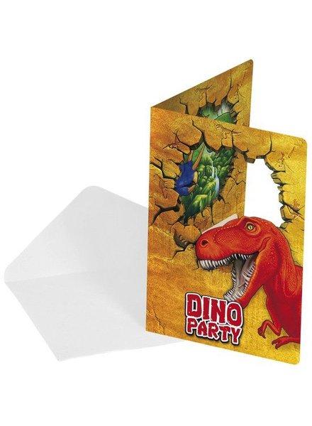 Dinosaurus uitnodigingen