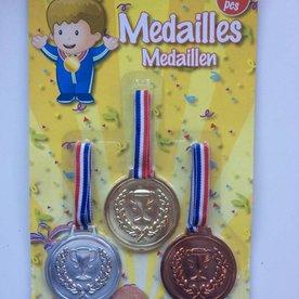 medailles, set van 3