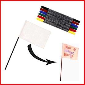 knutselpakket vlag maken, 6 kinderen