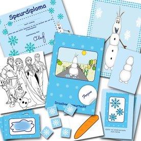 Postpakket voor een Frozen speurtocht