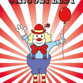 Deurposter voor circusfeestje