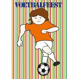 Deurposter voor voetbalfeestje