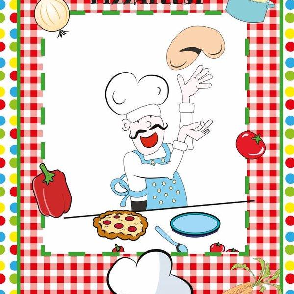 Deurposter voor pizzafeestje