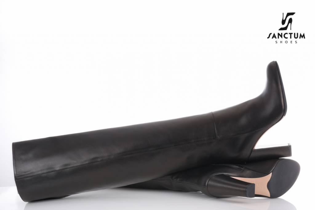 Sanctum  Long Italian overknee boots with chunky heels