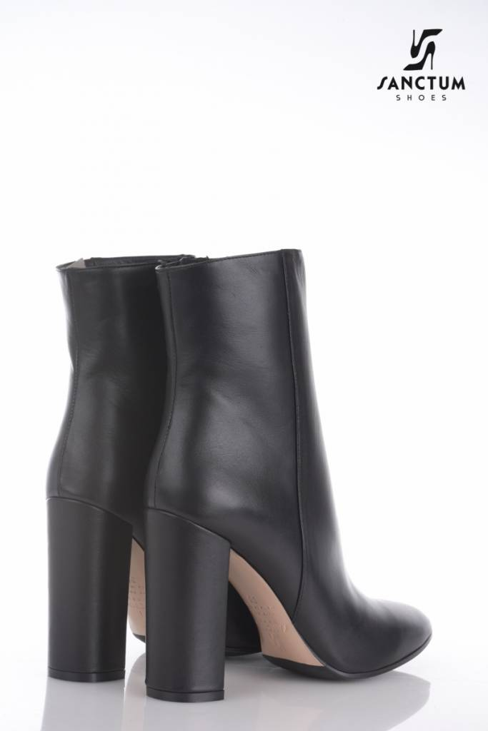 Sanctum Italian Ankle Boots With Chunky Heels In Fine