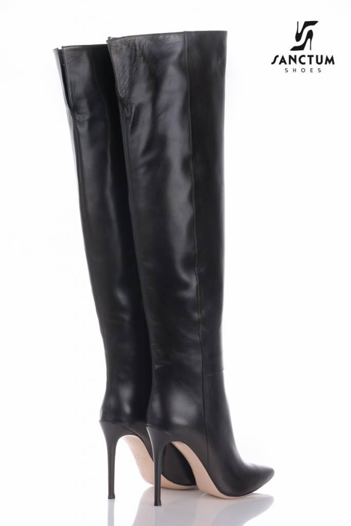 Sanctum  Long Italian overknee boots with thin heels