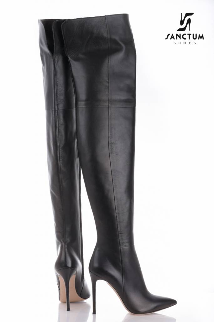 Sanctum  Long Italian high boots with thin heels