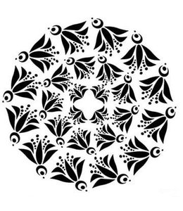 TheCraftersWorkshop Stencil Mini Flying Bird Doily