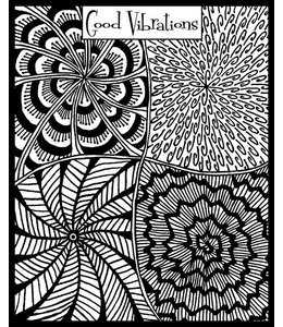 "Helen Breil Texture Stamp ""Good Vibrations"""
