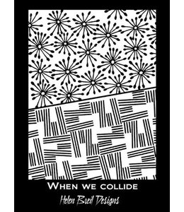 Helen Breil Design Silkscreen When we Collide