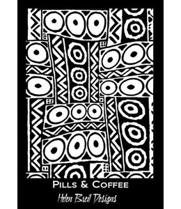 Helen Breil Design Silkscreen Pills & Coffee
