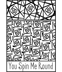 "Helen Breil Texture Stamp ""You Spin Me Round"""